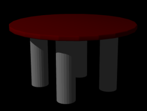 テーブルのレンダリング結果