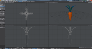 3Dにんじんモデリング画面