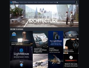 NewTek社LightWave登録サイト トップページ