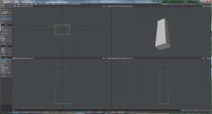 3Dキャラクター体作成、ボックス延長の方法