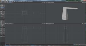 3Dキャラクター体作成、胴体の作成