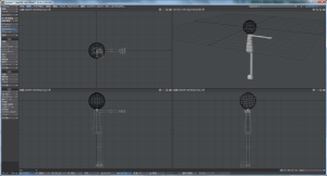3Dキャラクター体作成、全体表示