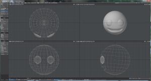 3Dキャラクター顔作成、目を追加