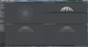 3Dキャラクター髪作成、中段部、ひねりを追加