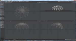 3Dキャラクター髪作成、中段部、全体バランスを整える