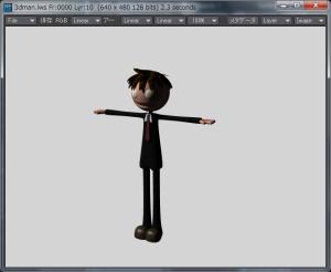 3Dキャラクター着色終了
