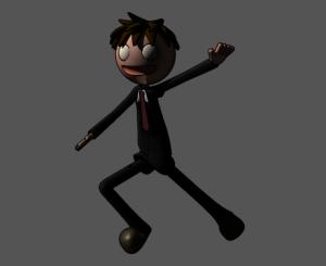 3Dキャラクターアニメ出力、線画のみを設定