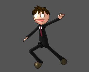 3Dキャラクターアニメ出力、環境光を100%に