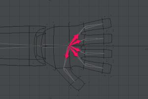 3Dキャラクターポージング、分岐しているスケルゴン