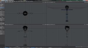 3Dキャラクターポージング、完成したスケルゴン