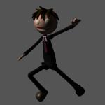 3Dキャラクターをポージングさせたところ