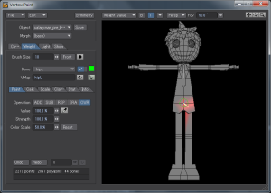 3Dキャラクターポージング、コピー元となる左半身