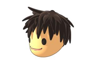 3Dキャラクターの顔の検討。第三案。