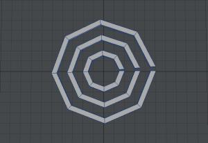 ぐるぐる渦巻き作成過程 3つの円をウェッジで作成