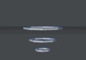 ぐるぐる渦巻き作成過程 3つの円に高さをつける