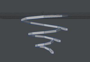 ぐるぐる渦巻き作成過程 細かいポイントも高さづけ