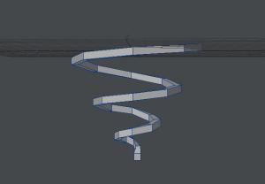 ぐるぐる渦巻き作成過程 円も徐々に内周に向かって小さくなるように微調整