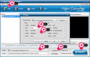 iWisoft Free Video ConverterのDVD焼き込み手順