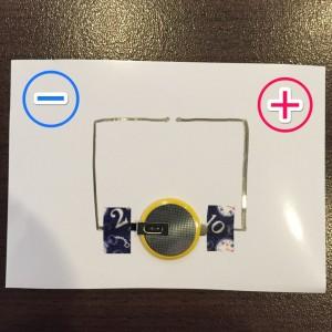 AgIC LED&電池セット 電池を置く