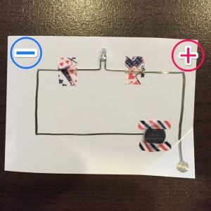 AgIC基本の遊び方 部品をテープではりつける