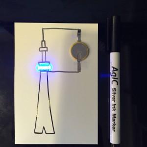 AgIC LED&電池セット 作例スカイツリー2