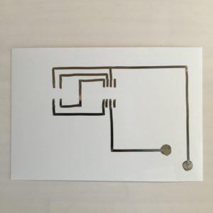 AgICフルカラーイルミネーション工作セット 回路描画手順3