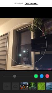 foldioのアプリ画面 クロマキーモード