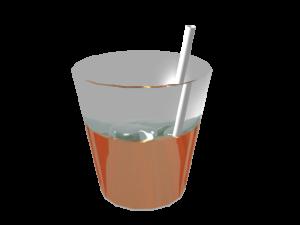 氷を使って作った、ジュースの3DCG