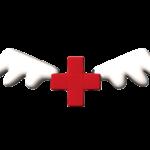 天使の羽が生えた赤十字