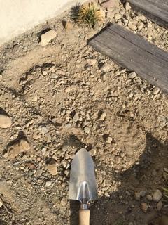 枕木設置 ディズニーランドテイストのDIY_枕木サイズに土を掘る
