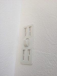壁美人を壁に取り付けたところのアップ